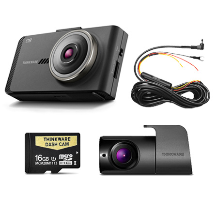 NEW Thinkware X700 1080P HD Dual Camera Pack - 16GB